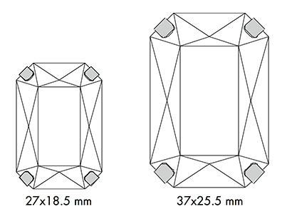 Swarovski 14 904 - Octagon Sizes