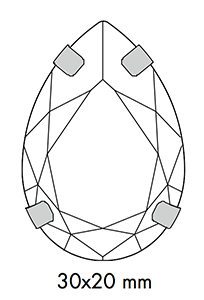 Swarovski 16 904 - Pear Sizes