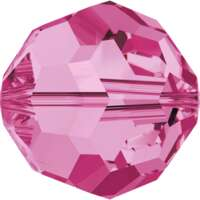 5000 - 6mm - Rose (209) - Round Crystal Bead