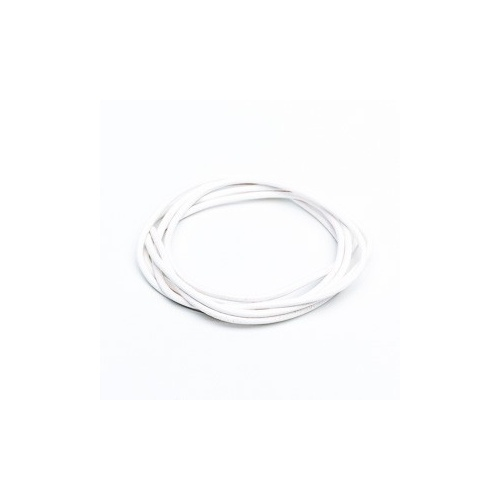 White 2mm Leather Cord - 1m Pack