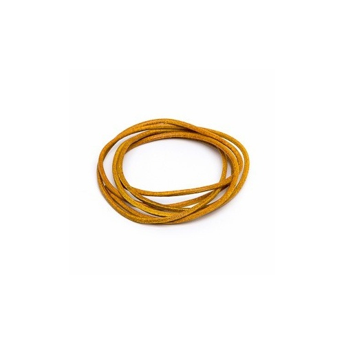 Yellow 2mm Leather Cord - 1m Pack