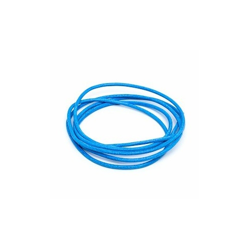 Blue 2mm Leather Cord - 1m Pack