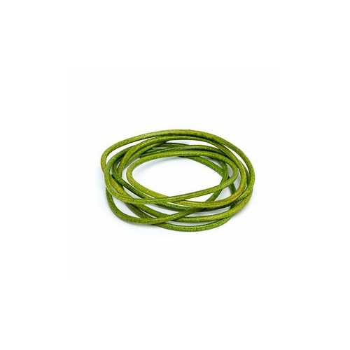 Apple Green 2mm Leather Cord - 1m Pack