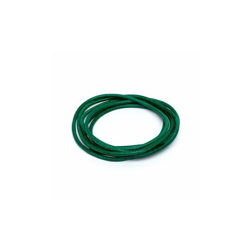 Green 2mm Leather Cord - 1m Pack