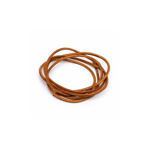 Cornelian 2mm Leather Cord - 1m Pack