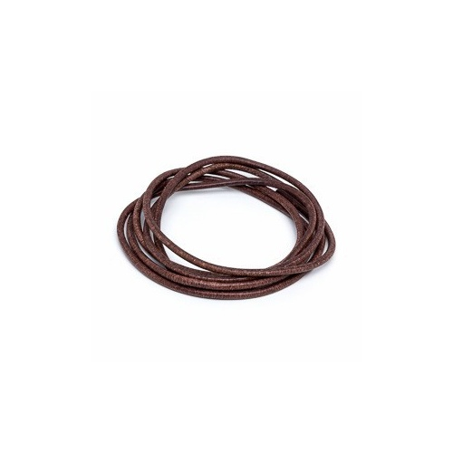 Brown 2mm Leather Cord - 1m Pack