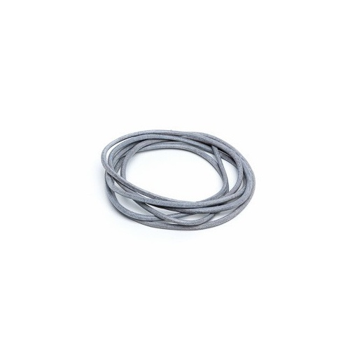 Grey 2mm Leather Cord - 1m Pack
