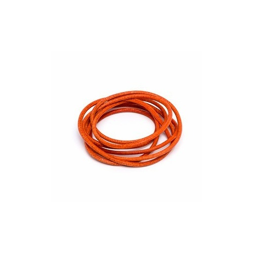 Orange 2mm Leather Cord - 1m Pack
