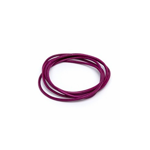 Magenta 2mm Leather Cord - 1m Pack