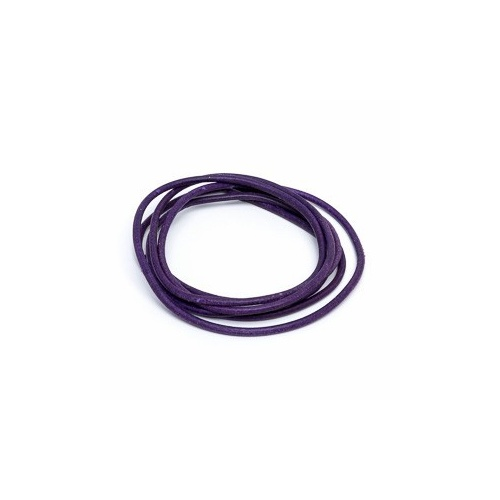 Violet 2mm Leather Cord - 1m Pack