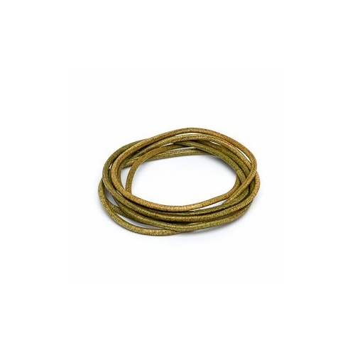 Olive 2mm Leather Cord - 1m Pack