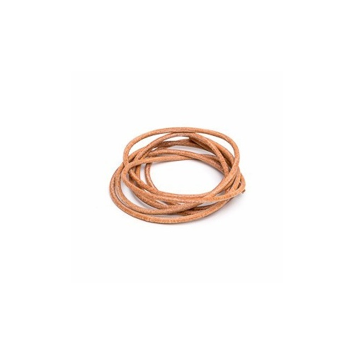 Natural 2mm Leather Cord - 1m Pack