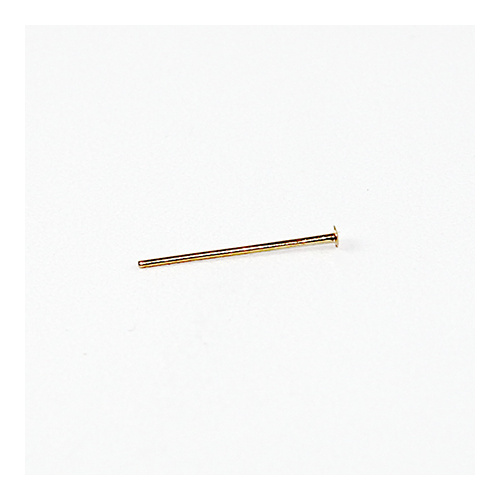 14mm Head Pin - Thin - Gold
