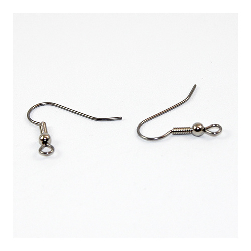 French Hook with Ball - Pair - Surgical Steel