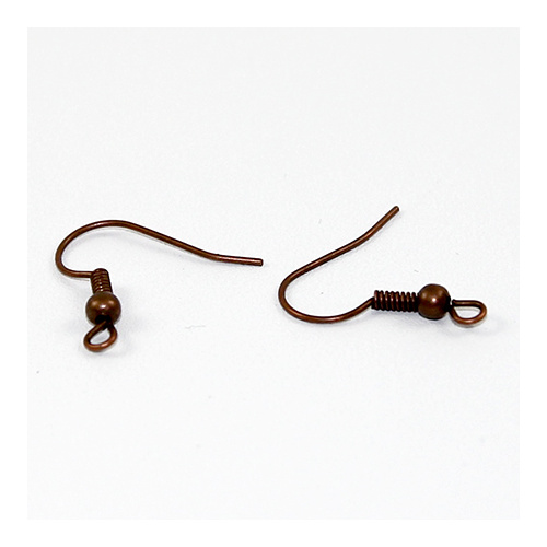 French Hook with Ball - Pair - Copper