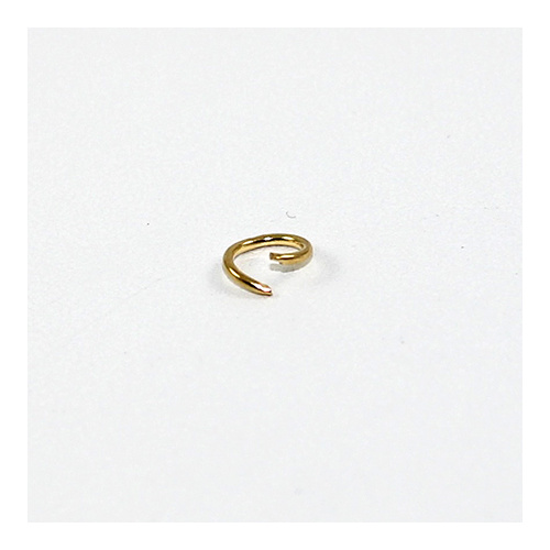 6mm Round Jump Rings - Brass Base - Gold