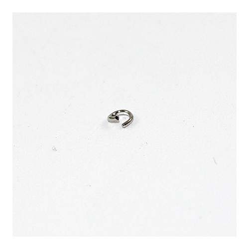 4mm Round Jump Rings - Brass Base - Nickel