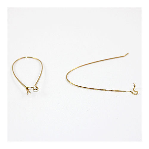 Kidney Wire - Large - Pair - Gold