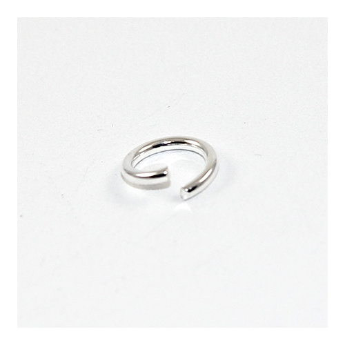 10mm x 1.5mm Round Jump Rings - Steel Base - Silver