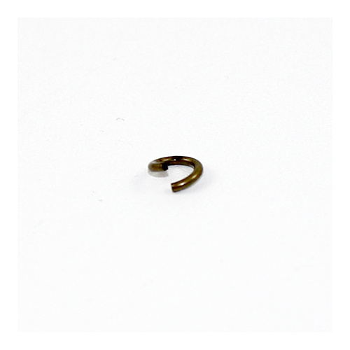 6mm x 1mm Round Jump Rings - Steel Base - Antique Bronze