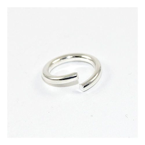 15mm x 1.8mm Round Jump Rings - Steel Base - Silver