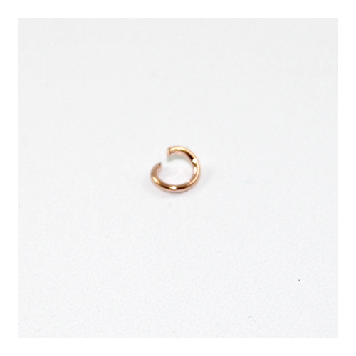 4mm Iron Jump Ring - Rose Gold Plated