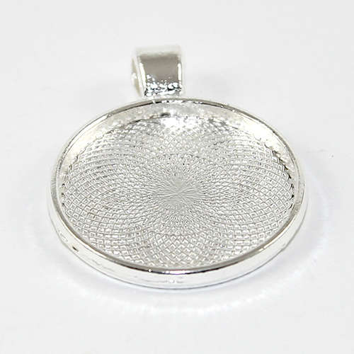 25mm Cabochon Setting Pendant - Silver Plated