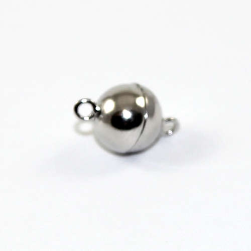 8mm Plain Round Single Strand Magnet - Sterling Silver
