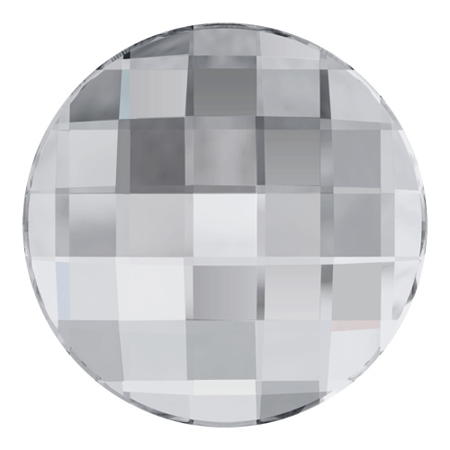 2035 - 10mm - Crystal A HF (001) - Chessboard Hot Fix Flat Back Crystal