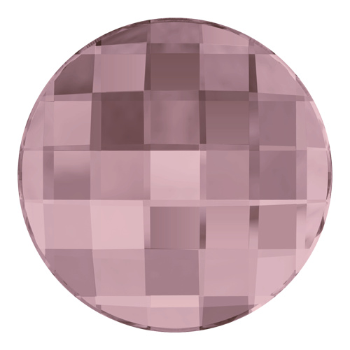 2035 - 10mm - Crystal Antique Pink F (001 ANTP) - Chessboard No Hot Fix Flat Back Crystal