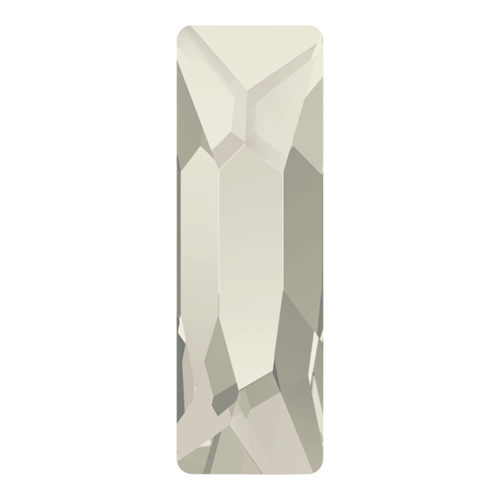 2555 - 12mm x 4mm - Crystal Silver Shade M HF (001 SSHA) - Cosmic Baguette Hot Fix Flat Back Crystal