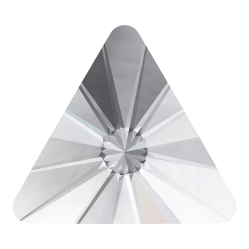 2716 - 5mm - Crystal F (001) - Rivoli Triangle No Hot Fix Flat Back Crystal