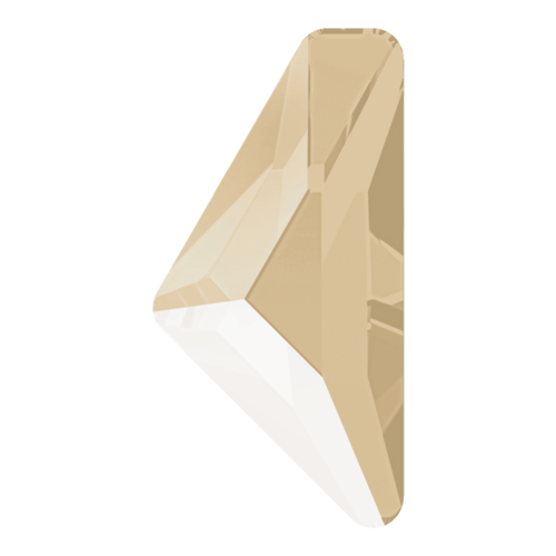 2738 - 10mm x 5mm - Crystal Ivory Cream (001 L106S) - Alpha Triangle Hot Fix Flat Back Crystal