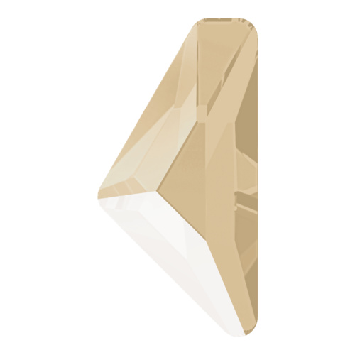 2738 - 10mm x 5mm - Crystal Ivory Cream (001 L106S) - Alpha Triangle No Hot Fix Flat Back Crystal