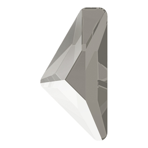 2738 - 12mm x 6mm - Crystal Dark Grey (001 L111S) - Alpha Triangle No Hot Fix Flat Back Crystal