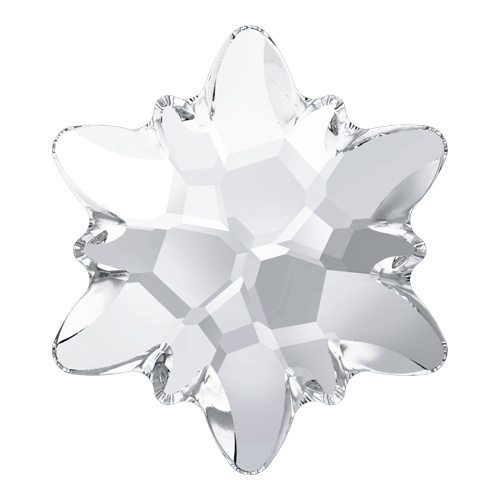 2753 - 14mm - Crystal F (001) - Edelweiss No Hot Fix Flat Back Crystal