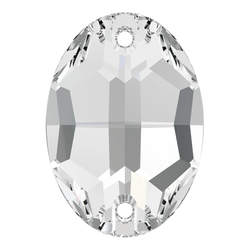 3210 - 10mm x 7mm - Crystal F (001) - Oval Sew-On Crystal