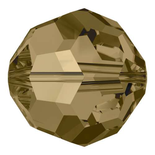 5000 - 3mm - Crystal Bronze Shade (001 BRSH) - Round Crystal Bead