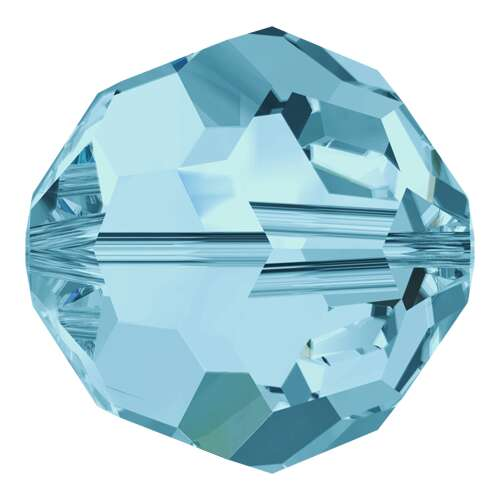 5000 - 3mm - Aquamarine (202) - Round Crystal Bead