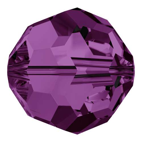 5000 - 3mm - Amethyst (204) - Round Crystal Bead