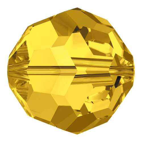 5000 - 10mm - Light Topaz (226) - Round Crystal Bead