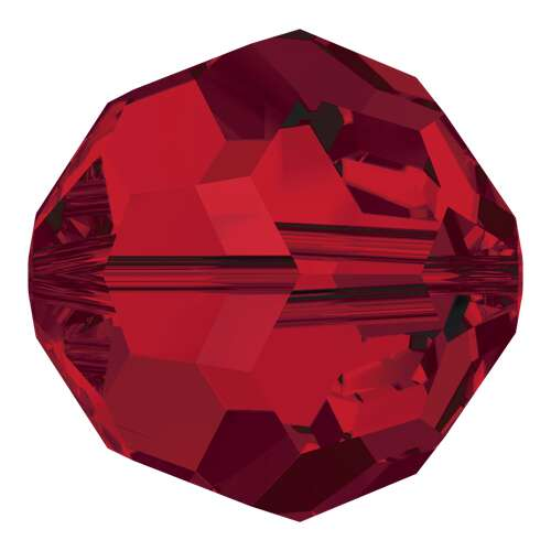 5000 - 10mm - Light Siam (227) - Round Crystal Bead