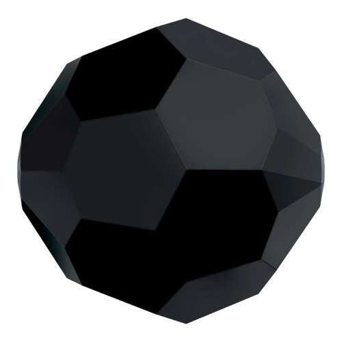 5000 - 12mm - Jet (280) - Round Crystal Bead