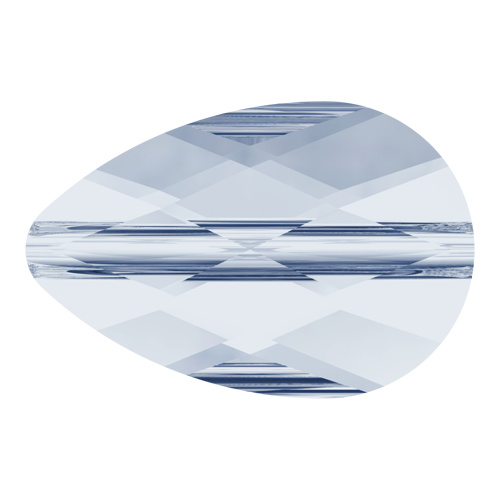 5056 - 6mm x 10mm - Crystal Blue Shade (001 BLSH) - Mini Drop Crystal Bead