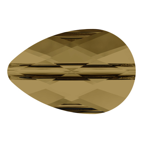 5056 - 6mm x 10mm - Crystal Bronze Shade (001 BRSH) - Mini Drop Crystal Bead
