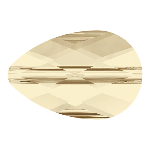 5056 - 6mm x 10mm - Light Silk (261) - Mini Drop Crystal Bead