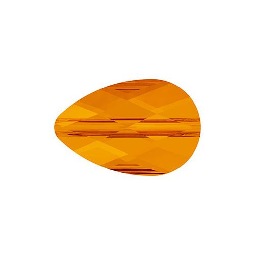 5056 Mini Drop Crystal Bead Tangerine (259) - 6mm x 10mm