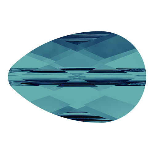 5056 - 6mm x 10mm - Indicolite (379) - Mini Drop Crystal Bead