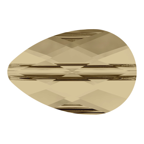 5056 - 8mm x 12mm - Crystal Golden Shadow (001 GSHA) - Mini Drop Crystal Bead
