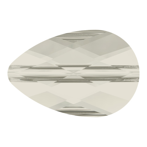 5056 - 8mm x 12mm - Crystal Silver Shade (001 SSHA) - Mini Drop Crystal Bead